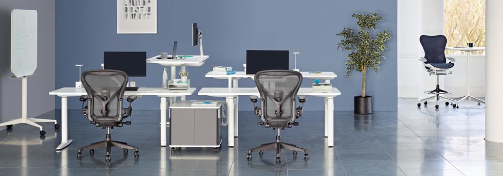 Moderne Arbeitsplätze mit Aeron und Atlas